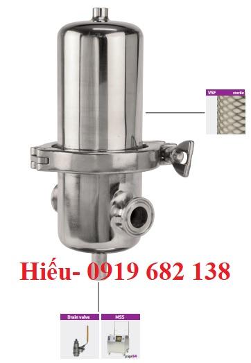 Bộ lọc khí vô trùng bằng inox SF Omega Air