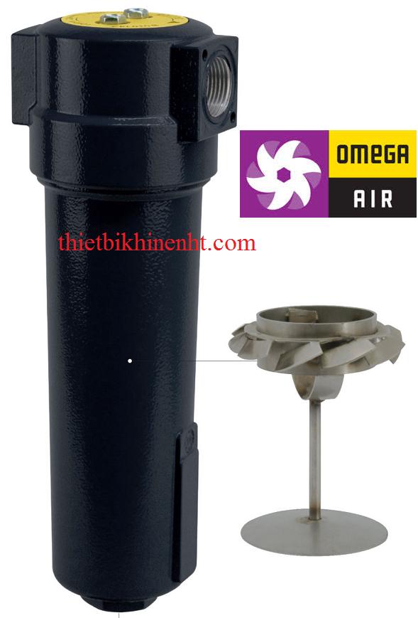 Bộ tách nước ly tâm CKL B HT Omega Air, nhiệt độ cao, vật liệu hợp kim nhôm