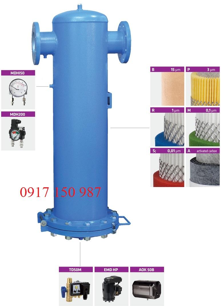 Bộ lọc khí nén cao áp lưu lượng cao BF-HP