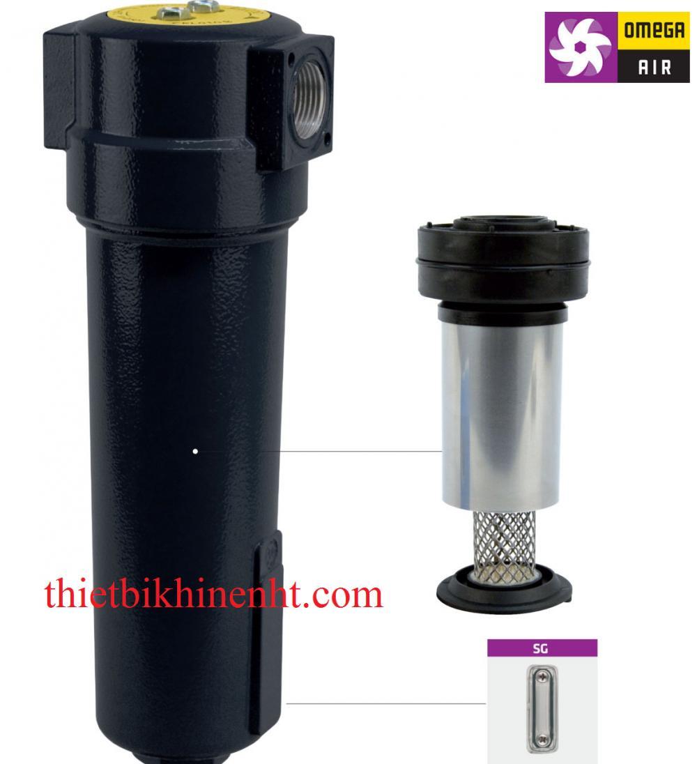 Bộ tách nước ly tâm CKL B Omgea Air, vật liệu hợp kim nhôm, kết nối Ren