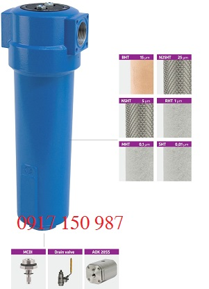 Bộ lọc khí nén nhiệt độ cao Omega Air molde AF HT