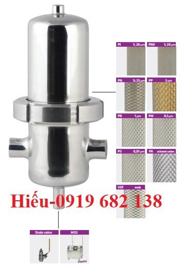 Bộ lọc khí vô trùng bằng inox SPF Omega Air