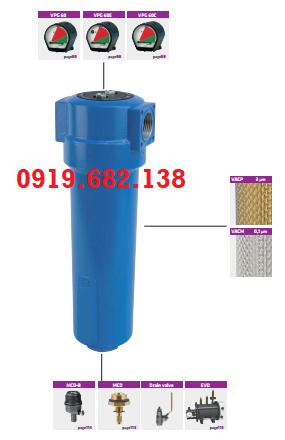 Bộ lọc khí máy bơm hút chân không P-VAC Omega Air
