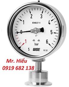 Đồng hồ áp suất màng 3-A Marking WISE P752S