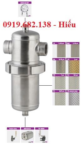 Bộ lọc khí vi sinh inox cho hệ thống áp suất cao WHFIT Omega Air
