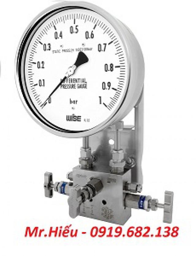 Đồng hồ áp suất chênh áp WISE P670