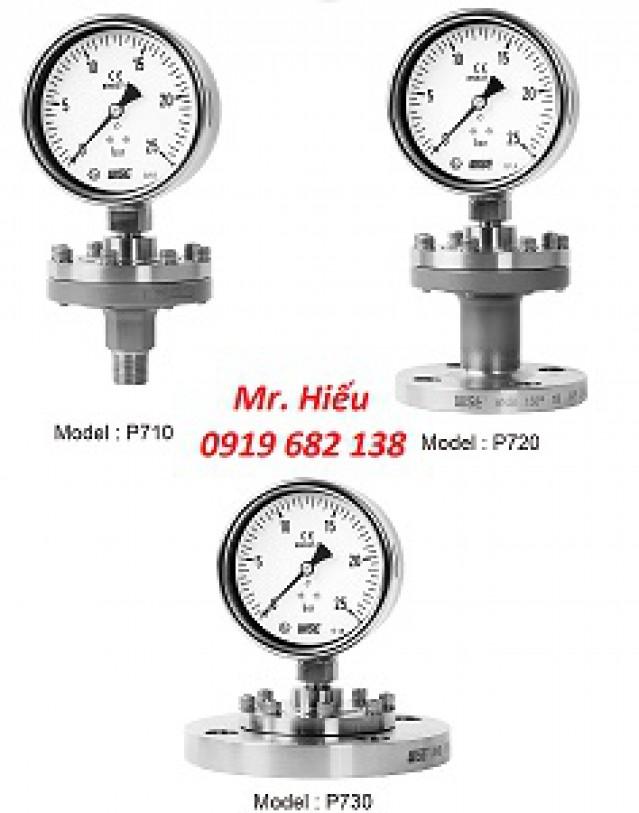 Đồng hồ áp suất màng WISE P710-P720-P730