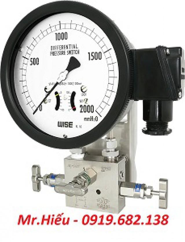 Đồng hồ áp suất chênh áp WISE P640