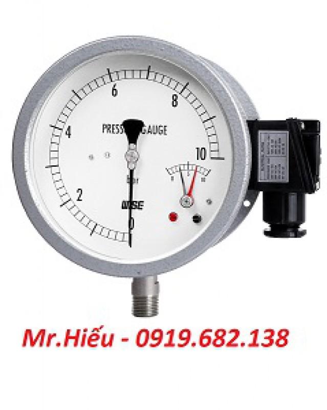 Đồng hồ áp suất tiếp điểm điện WISE P535-P536