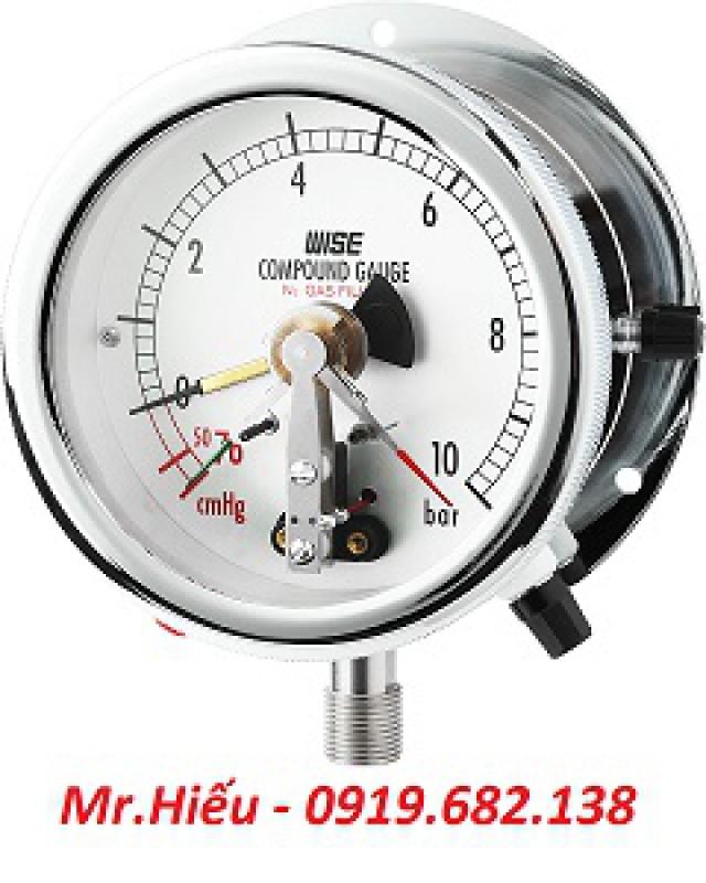 Đồng hồ áp suất tiếp điểm điện WISE P542-P543