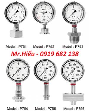 Đồng hồ áp suất màng thực phẩm WISE P750